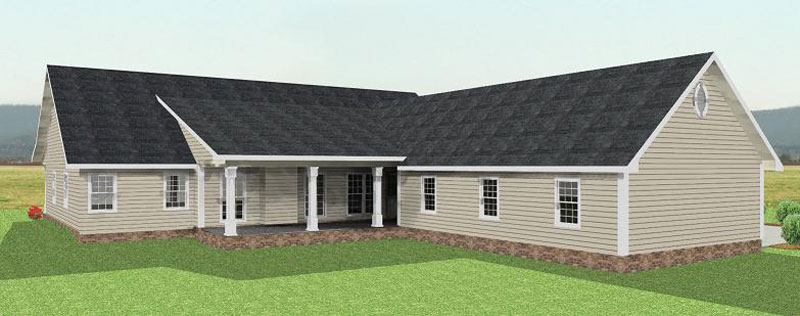 Colonial Floor Plan Color Image of House 028D-0013