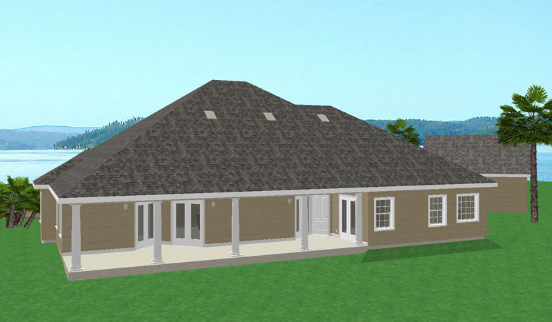 Ranch House Plan Color Image of House 028D-0015