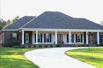 Broad Southern Home With Dominating Covered Front Porch