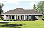 Colonial House Plan Front Photo 02 - 028D-0018 | House Plans and More