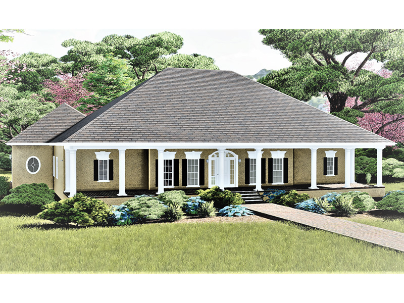 Sunbelt Home Plan Front Photo 01 - 028D-0020 | House Plans and More