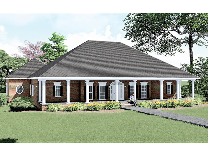 Sunbelt Home Plan Front Photo 01 - 028D-0021 | House Plans and More