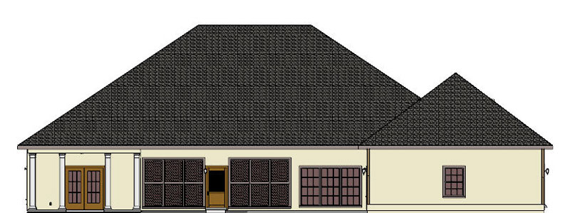Sunbelt Home Plan Color Image of House - 028D-0021 | House Plans and More
