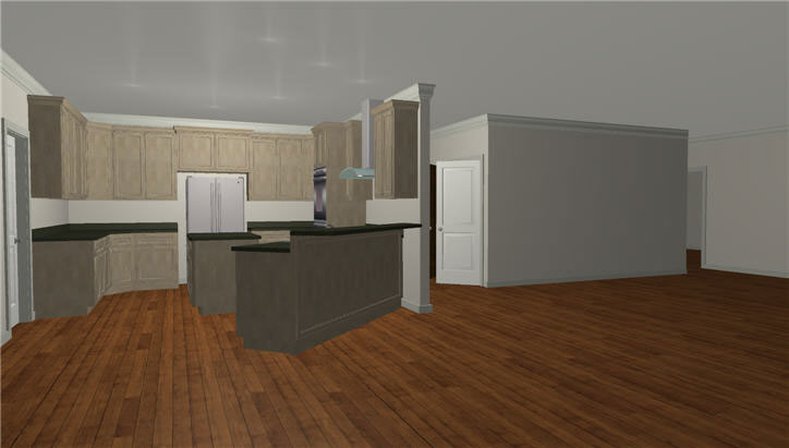 Acadian House Plan Kitchen Photo 01 - 028D-0022 | House Plans and More