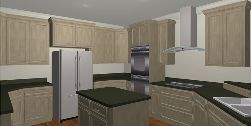 Acadian House Plan Kitchen Photo 02 028D-0022