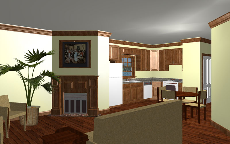 Ranch House Plan Kitchen Photo 01 028D-0023