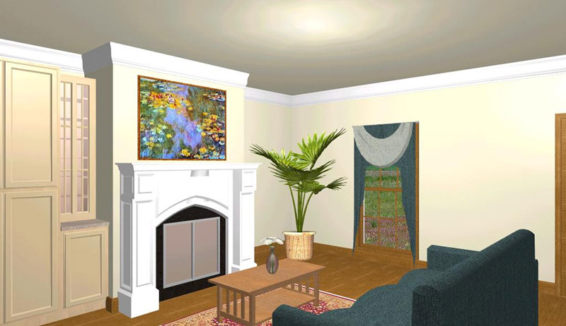 Traditional House Plan Family Room Photo 01 - 028D-0024 | House Plans and More