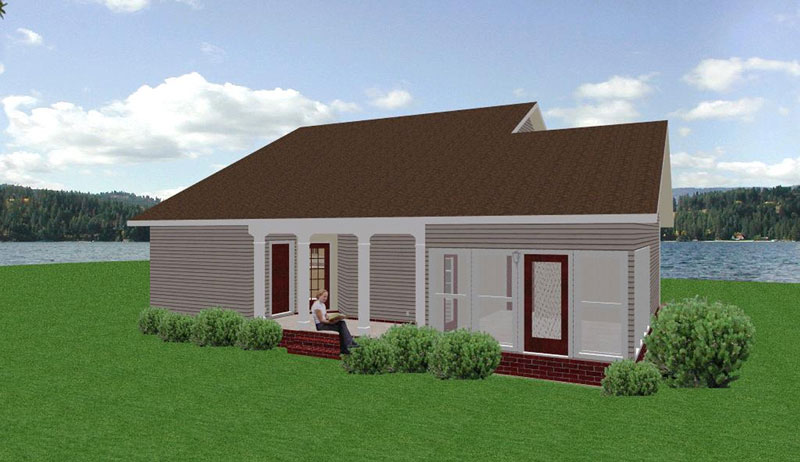 Ranch House Plan Color Image of House - 028D-0024 | House Plans and More