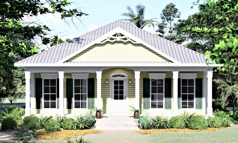 Neoclassical Home Plan Front of Home 028D-0025