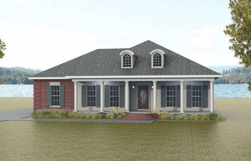 Ranch House Plan Front Image - 028D-0026 | House Plans and More