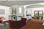European House Plan Great Room Photo 01 - 028D-0026 | House Plans and More
