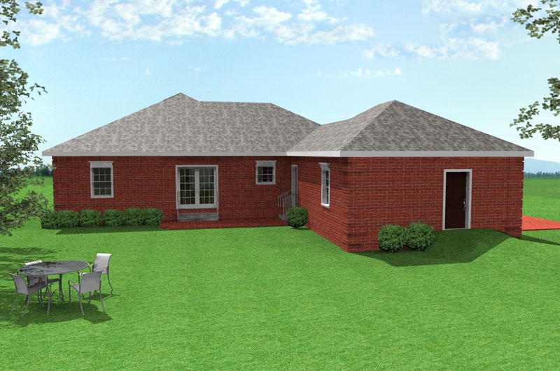 Ranch House Plan Color Image of House - 028D-0026 | House Plans and More