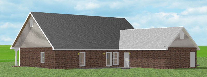 Ranch House Plan Color Image of House 028D-0028