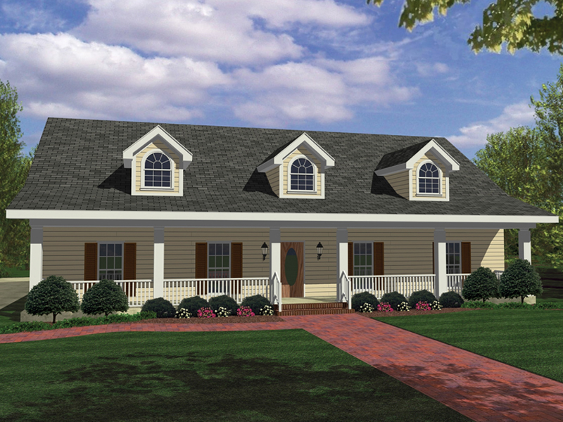 Ranch House Plan Front Photo 01 028D-0030