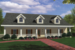 Colonial Floor Plan Front Photo 01 - 028D-0030 | House Plans and More