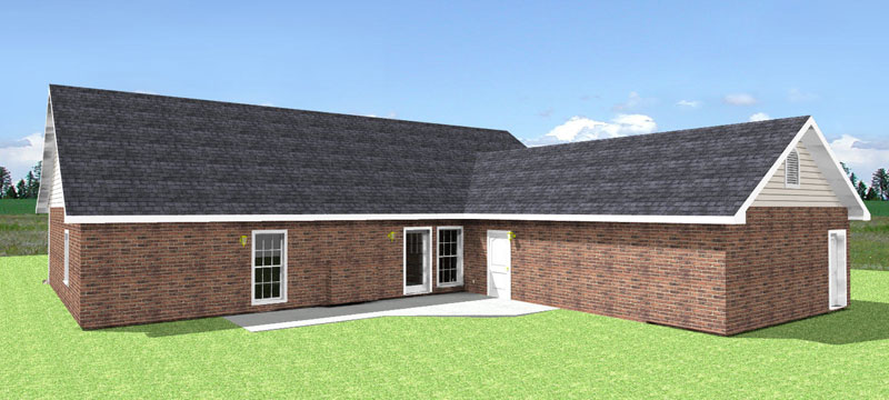 Ranch House Plan Color Image of House - 028D-0030 | House Plans and More