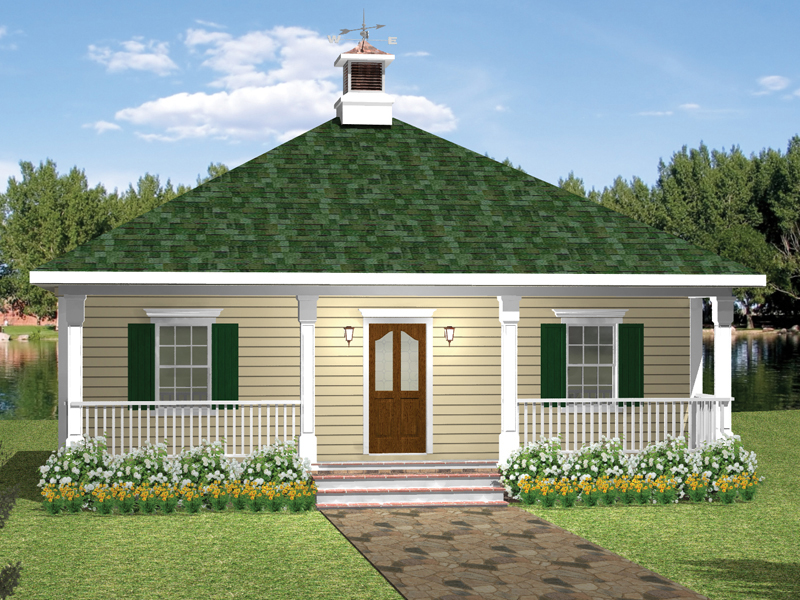 Vacation House Plan Front of Home - 028D-0032 | House Plans and More