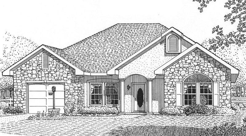 Ranch House Plan Front Image of House - 028D-0033 | House Plans and More