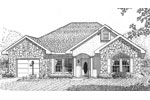 Traditional House Plan Front Image of House - 028D-0033 | House Plans and More