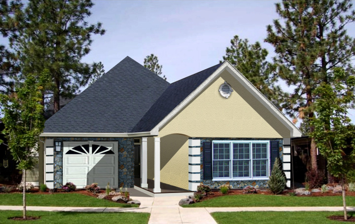 Charming Home Plan For A Narrow Lot