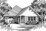 Modern House Plan Front Image of House - 028D-0034 | House Plans and More