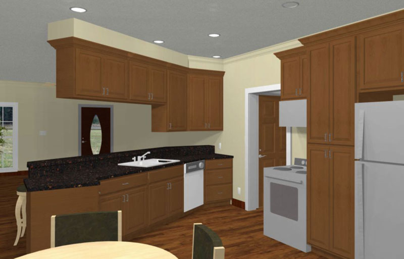 Sunbelt Home Plan Kitchen Photo 01 - 028D-0035 | House Plans and More