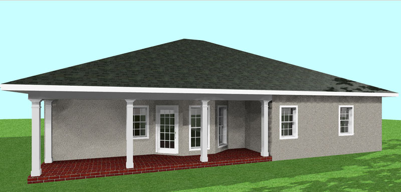 Sunbelt Home Plan Color Image of House - 028D-0035 | House Plans and More