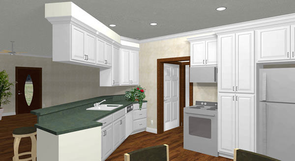 Colonial Floor Plan Kitchen Photo 01 - 028D-0036 | House Plans and More