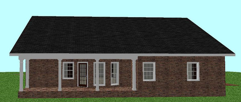 Colonial Floor Plan Color Image of House 028D-0036