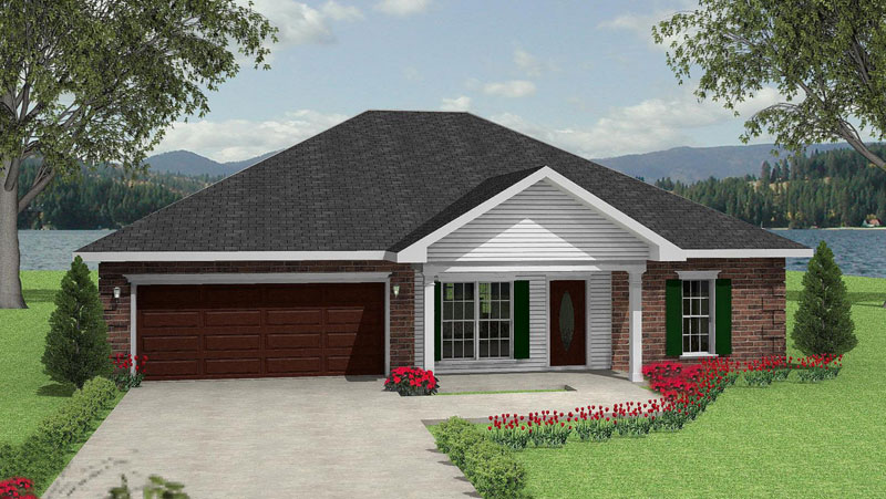 Traditional House Plan Front Image 028D-0037