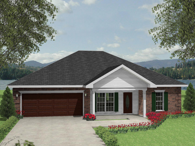 Ranch House Plan Front Photo 03 028D-0037