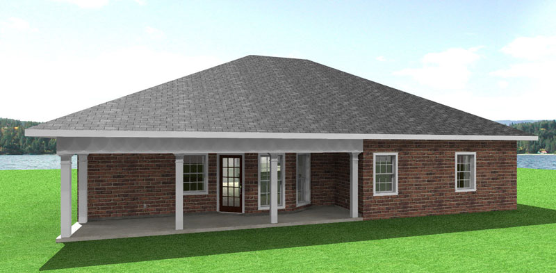 Ranch House Plan Color Image of House 028D-0037