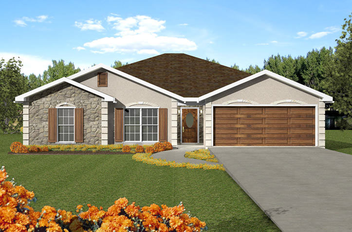 Sunbelt Home Plan Front of Home - 028D-0040 | House Plans and More