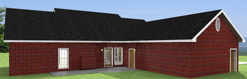 Ranch House Plan Color Image of House - 028D-0042 | House Plans and More