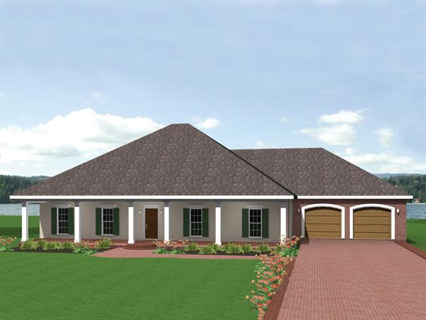 Gretta European Ranch Home Plan 028D 0045 House Plans
