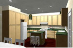 Sunbelt Home Plan Kitchen Photo 01 - 028D-0045 | House Plans and More