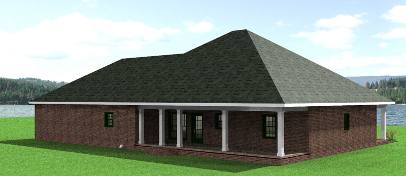 Sunbelt Home Plan Color Image of House - 028D-0045 | House Plans and More