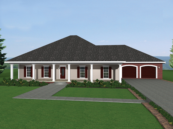 Rock forest southern ranch home plan 028d 0046 house for Southern home and ranch
