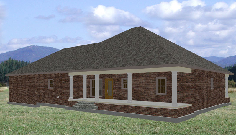 Sunbelt Home Plan Color Image of House - 028D-0046 | House Plans and More
