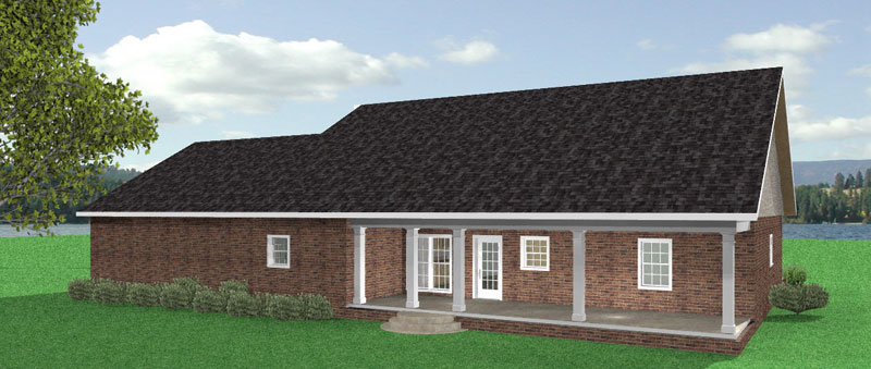 Colonial House Plan Color Image of House - 028D-0047 | House Plans and More