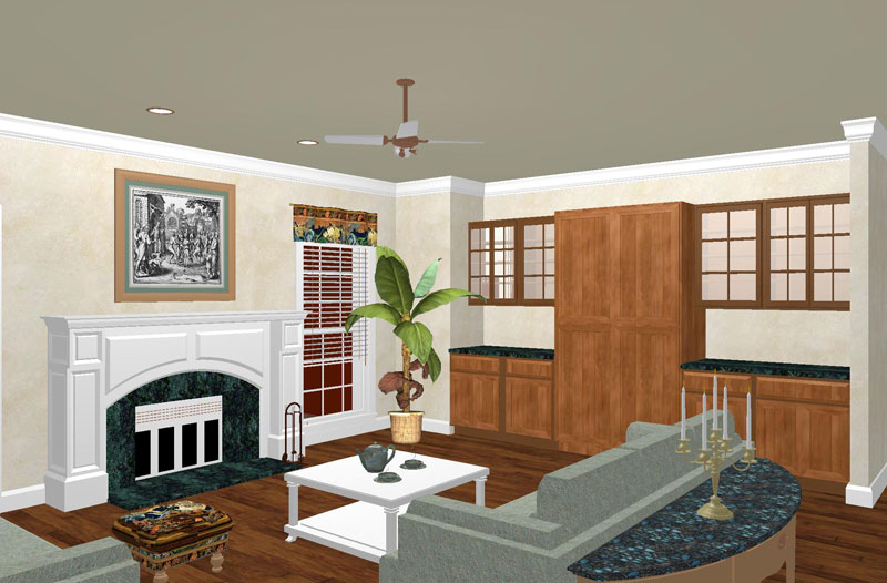 Colonial House Plan Family Room Photo 01 - 028D-0049 | House Plans and More