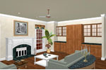 Ranch House Plan Family Room Photo 01 - 028D-0049 | House Plans and More
