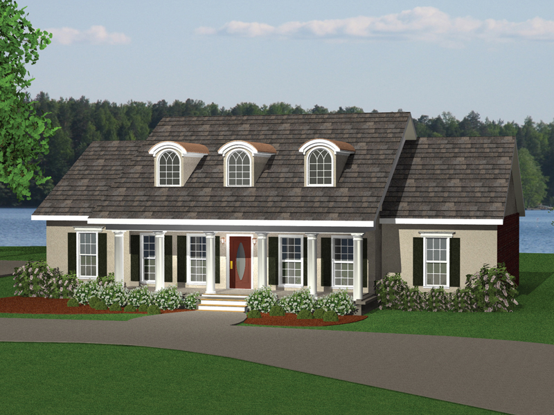 Traditional House Plan Front of Home - 028D-0049 | House Plans and More