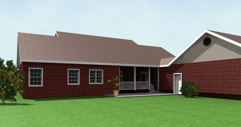 Ranch House Plan Color Image of House - 028D-0049 | House Plans and More