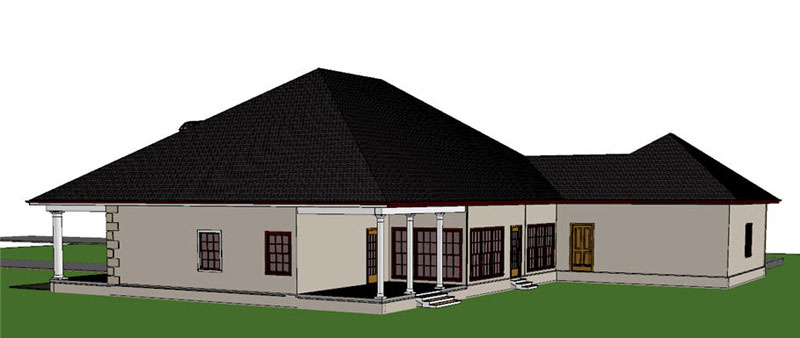 Sunbelt Home Plan Color Image of House - 028D-0050 | House Plans and More