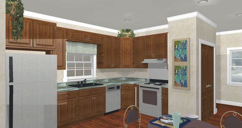 Colonial Floor Plan Kitchen Photo 01 028D-0051