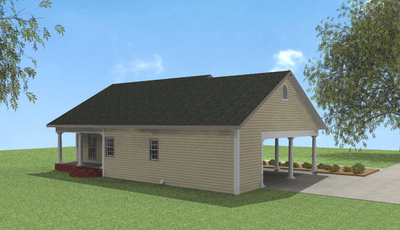 Southern House Plan Color Image of House 028D-0051