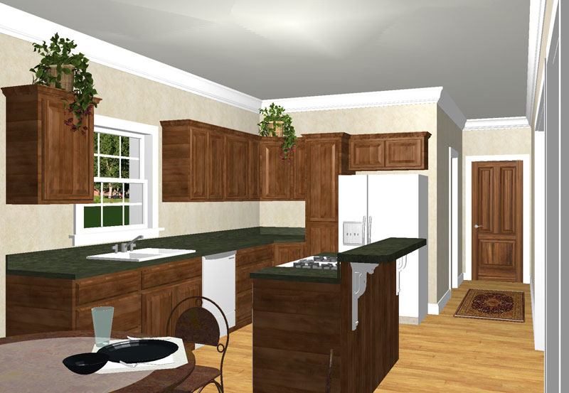 Colonial Floor Plan Kitchen Photo 01 - 028D-0052 | House Plans and More