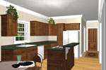 Traditional House Plan Kitchen Photo 01 - 028D-0052 | House Plans and More