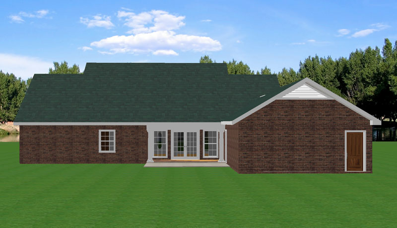 Ranch House Plan Color Image of House - 028D-0052 | House Plans and More